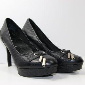 Rockport croc heels in black